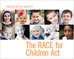 Thank You for your Support of The RACE for Children Act